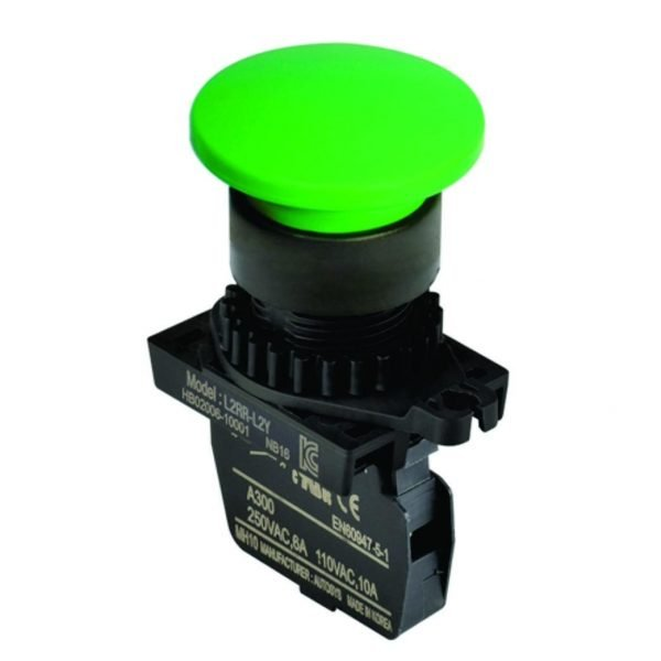 Botão Pulsador Cogumelo série S2BR-P1 Autonics