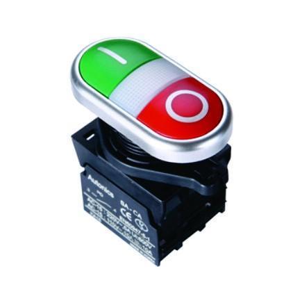Botão duplo 22,5mm série S2TR-P3 Autonics