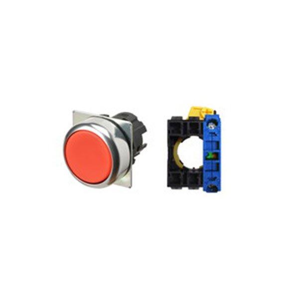 Botão Omron, diam.22mm, vermelho, não iluminado - A22NN-RNM-NRA-G100-NN