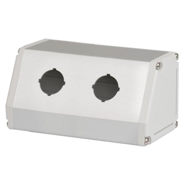 Caixa para botão Autonics, 2 furo, diam.22mm, fixação inclinada - SA-TB2
