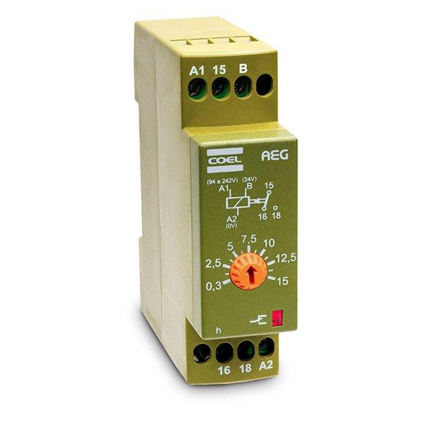 Temporizador Eletrônico AEG- ALIM. 94 A 242VCA/24VCA/VCC 60,0 MIN